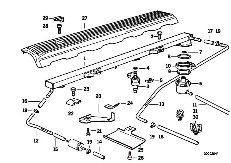 mja0mv9w original parts for e36 320i m50 sedan fuel preparation system