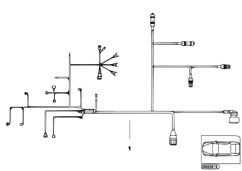 Original Parts For E46 330xd M57 Sedan    Engine Electrical System   Wiring Harness Engine Grbx