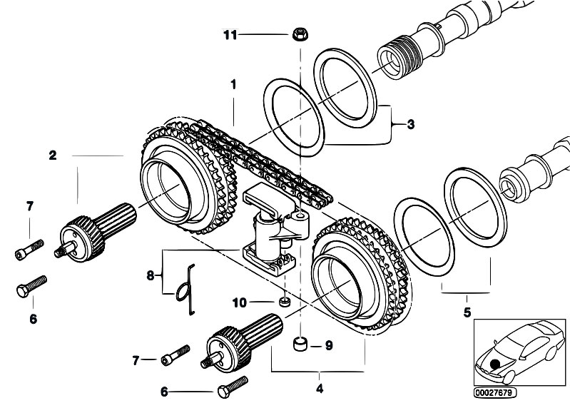 original parts for e39 m5 s62 sedan    engine   timing gear