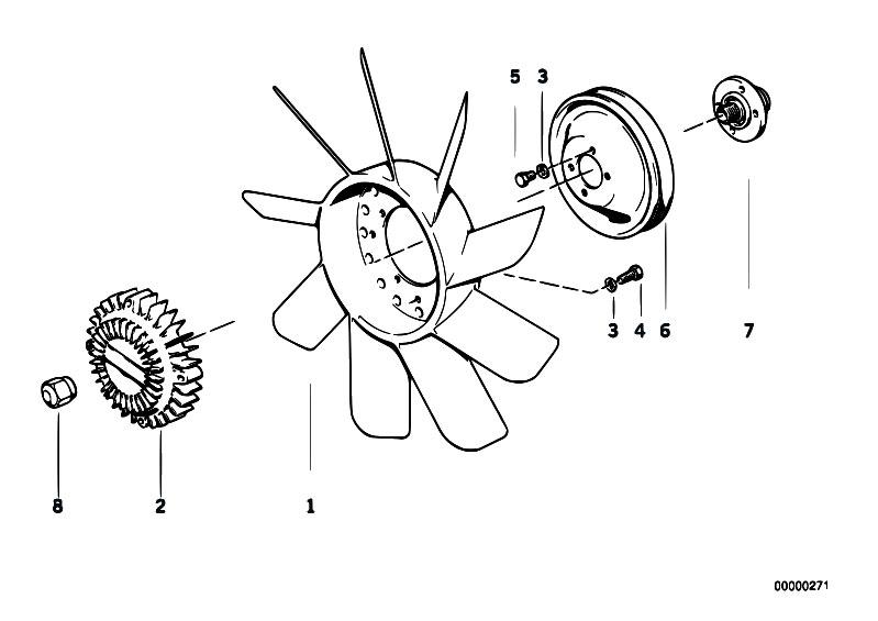 original parts for e12 535i m30 sedan    engine   cooling