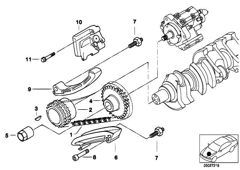 original parts for e46 330d m57 touring engine timing. Black Bedroom Furniture Sets. Home Design Ideas