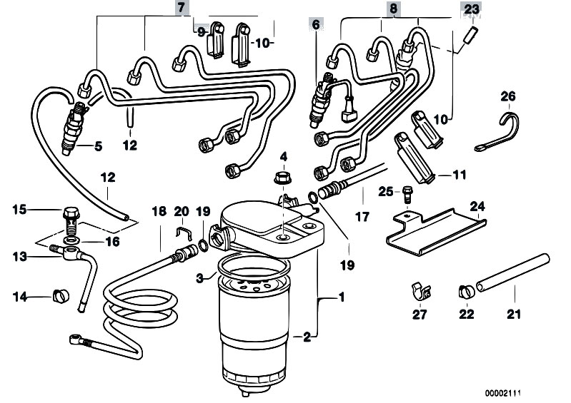 original parts for e39 525tds m51 touring    fuel