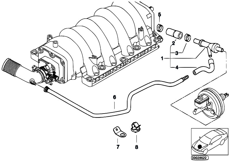 Original Parts For E39 540i M62 Touring Engine Vacuum Control 2 Estorecentral: BMW M62 Wiring Diagram At Johnprice.co