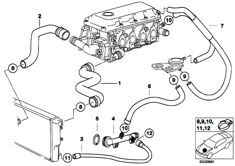 2006 bmw 330i radiator diagram