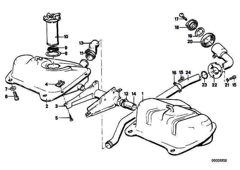 Original Parts For E21 318i M10 Sedan    Fuel Supply   Fuel