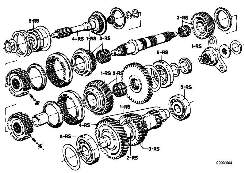 Bmw 118d 318d getrag gs6-17dg 6 speed stop start manual gearbox.