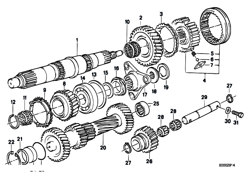 Original Parts For E30 318i M10 4 Doors Manual Transmission