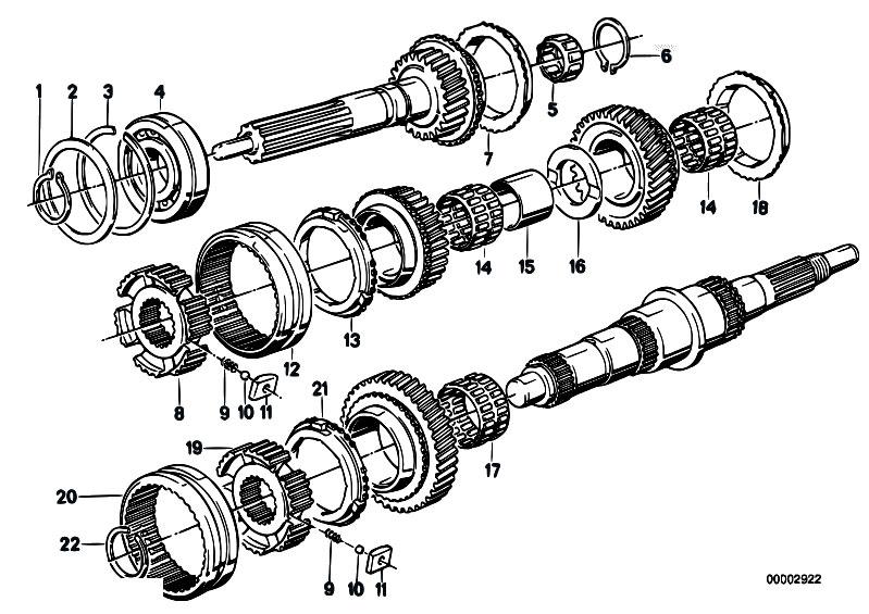 Original Parts for E34 520i M20 Sedan / Manual Transmission/ Zf S5