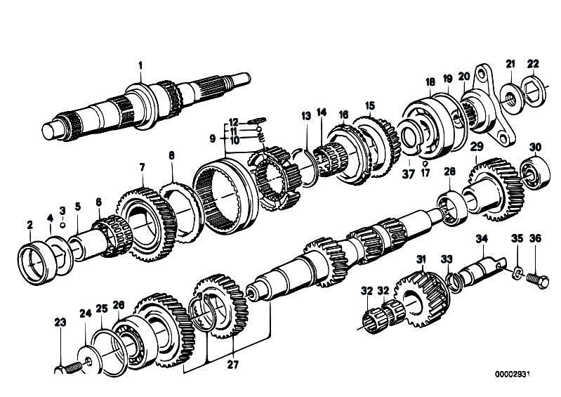 Original parts for e34 518i m40 sedan / manual transmission.