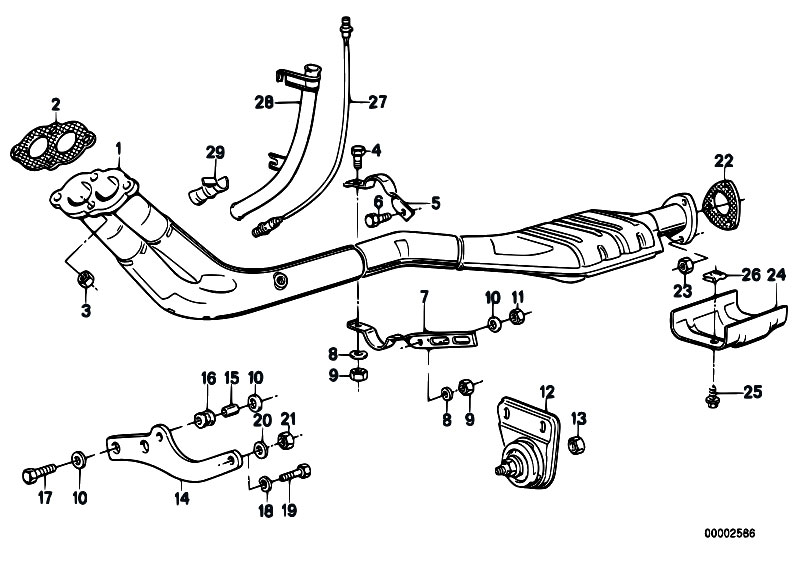 BMW E28 E30 Front Exhaust Pipe Gasket 18111728364