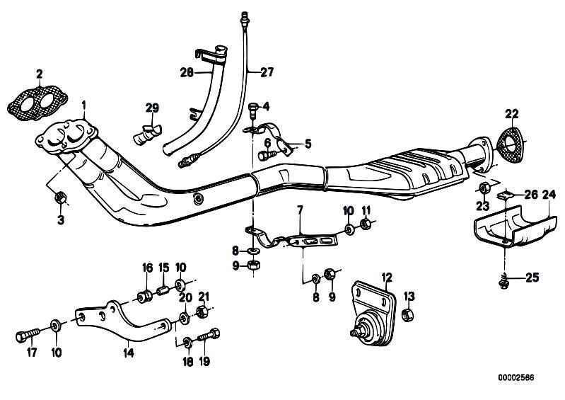 Original Parts For E30 318i M10 4 Doors Exhaust System Pipe Catalytic Converter Estorecentral: BMW E36 328i Catalytic Converter At Woreks.co