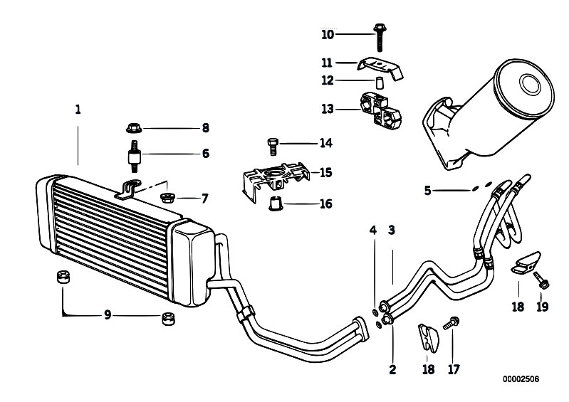 Original Parts For E34 525tds M51 Touring    Radiator