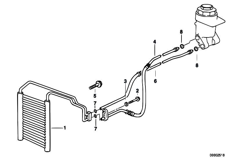 Original Parts For E38 740il M62 Sedan Radiator Engine