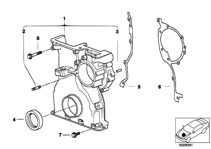 Original Parts For E60 530i M54 Sedan Engine Timing