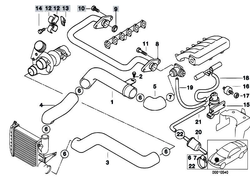 Original Parts For E38 725tds M51 Sedan    Engine   Intake