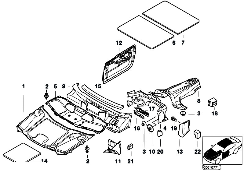 Original Parts For E38 740il M62 Sedan    Vehicle Trim