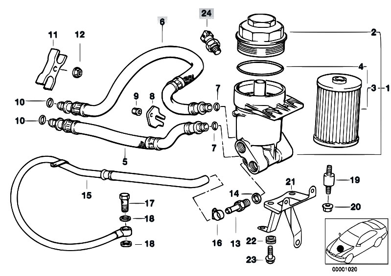 Original Parts For E39 540i M62 Touring    Engine   Lubricat