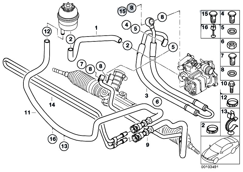 Original Parts For E46 316ti N42 Compact Steering Hydro Steering