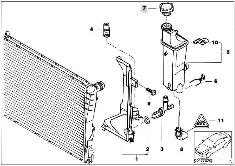 Original Parts For E46 323i M52 Sedan Radiator Expansion Tank Automatic Gearbox Estore Central Com
