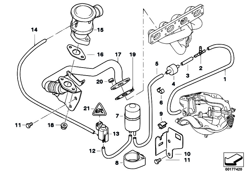 bmw e46 320d vacuum hose diagram