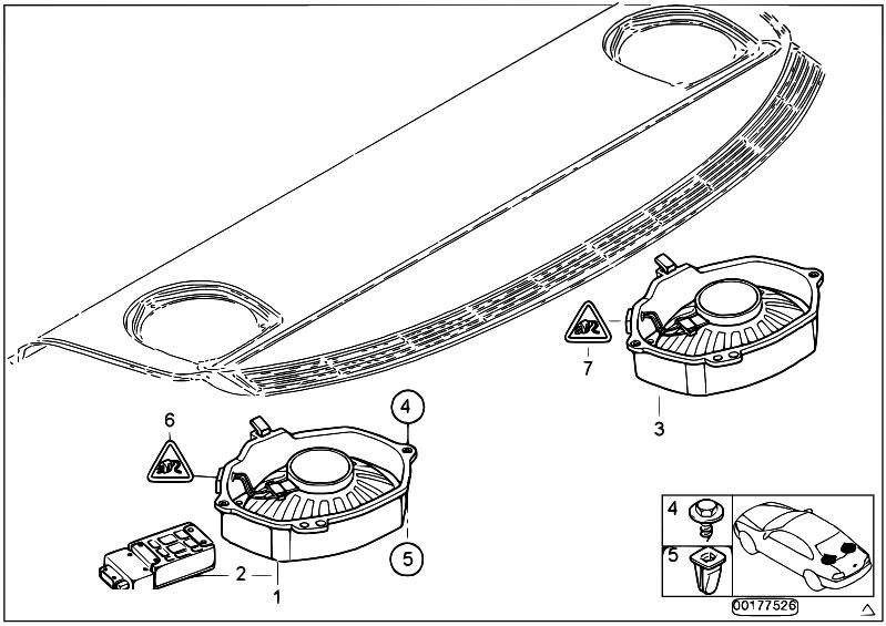 original parts for e46 316i n40 sedan    audio navigation electronic systems   subwoofer hi fi