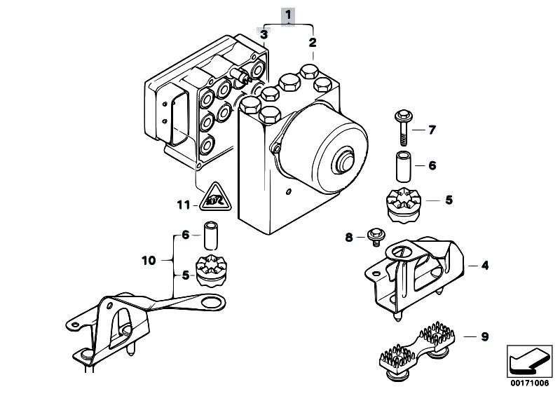 Original Parts For E46 320ci M52 Coupe Brakes Asc Hydro