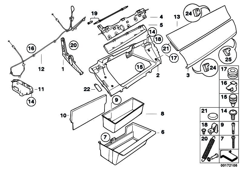 Original Parts For E70 X5 4 8i N62n Sav    Vehicle Trim   Glove Box
