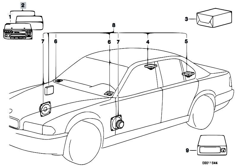 original parts for e34 525i m20 sedan    audio navigation