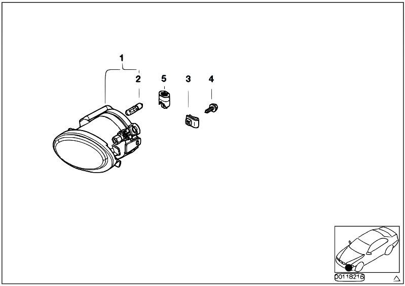 original parts for e46 318d m47n touring    lighting   fog