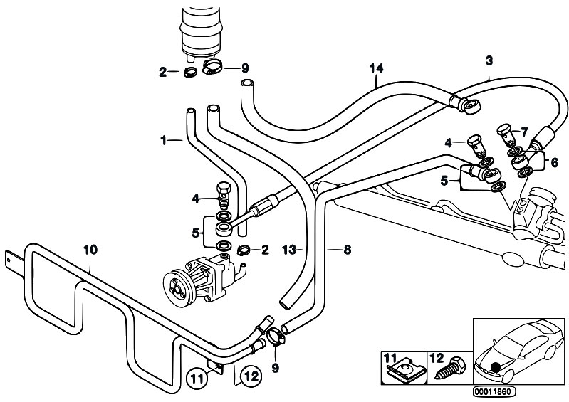 Original Parts For E36 323ti M52 Compact Steering Hydro Steering