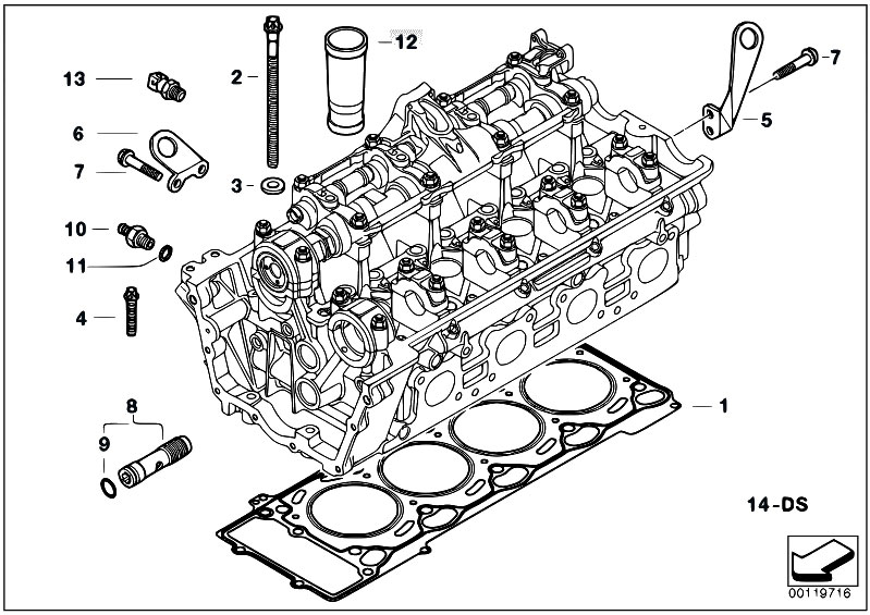original parts for e53 x5 4 4i n62 sav / engine/ cylinder head attached  parts - estore-central com