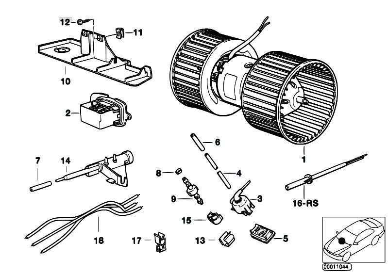 original parts for e34 520i m50 touring    heater and air