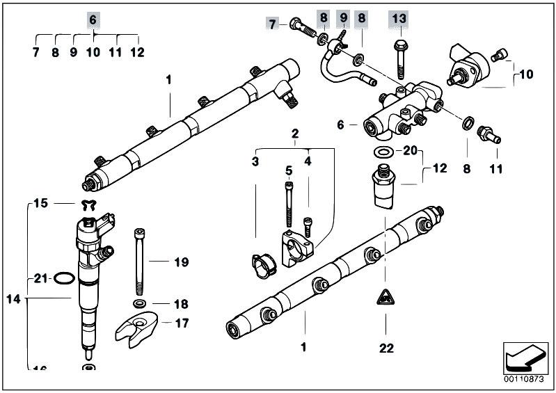 Original Parts For E38 740d M67 Sedan    Fuel Preparation System   Press Accumulator Distributor