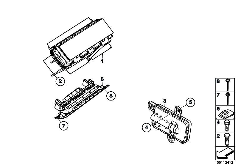 original parts for e89 z4 35i n54 roadster    restraint
