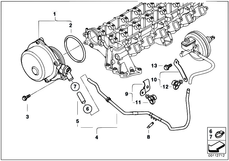 1990 bmw 525i engine diagram bmw e60 engine diagram original parts for e60 530d m57n sedan / engine/ vacuum ...