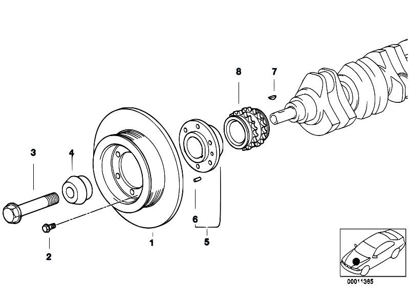 original parts for e46 323ci m52 coupe    engine   belt