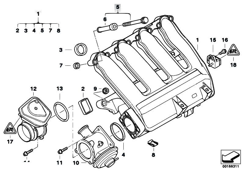 original parts for e91 318d m47n2 touring    engine   intake