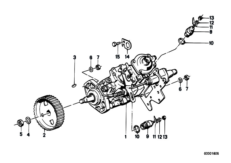 Original Parts For E30 324d M21 4 Doors Fuel Preparation System