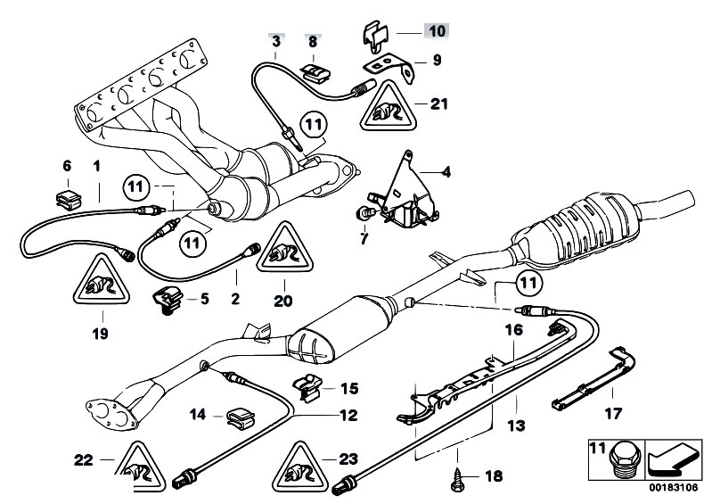 Original Parts For E46 316ti N42 Compact    Exhaust System