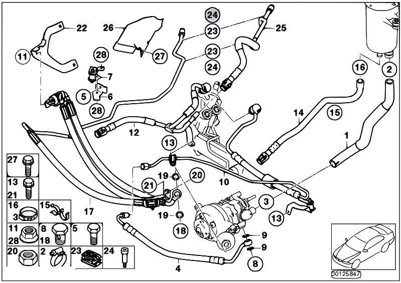 Original Parts For E65 735i N62 Sedan Steering Power Steering Oil