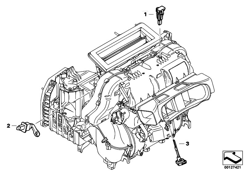 Original Parts for E60 530xi N52 Sedan / Heater And Air Conditioning