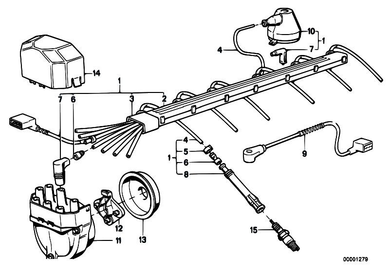 Original Parts For E32 730i M30 Sedan    Engine Electrical