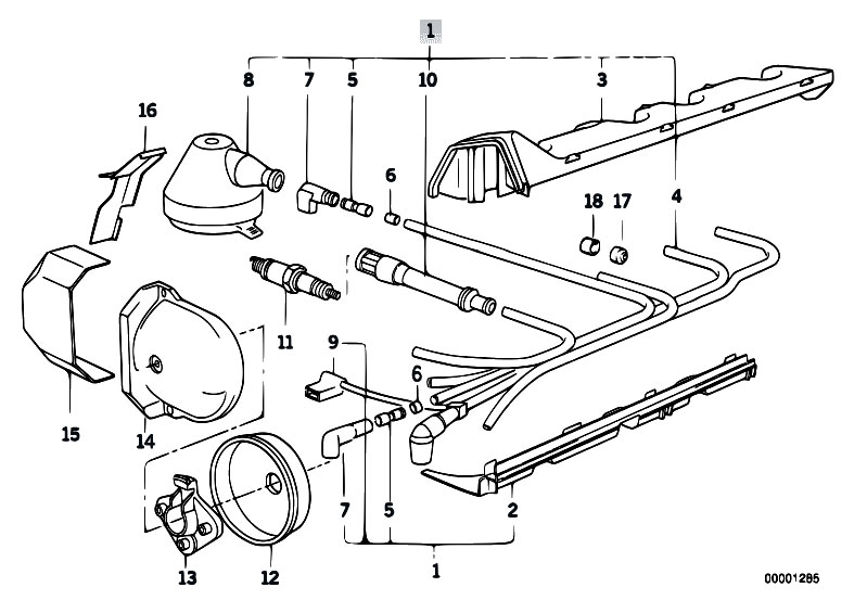 Original Parts For E30 318i M40 2 Doors    Engine