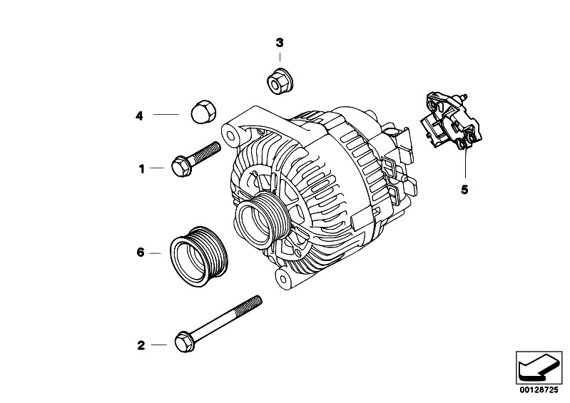 original parts for e60 525xi n52 sedan    engine electrical
