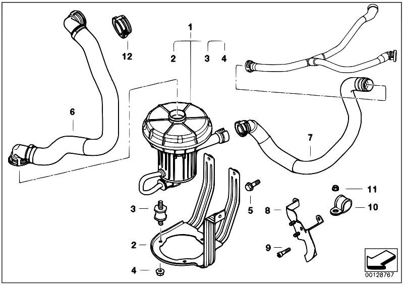 Original Parts For E65 735i N62 Sedan Engine Emission Control Air