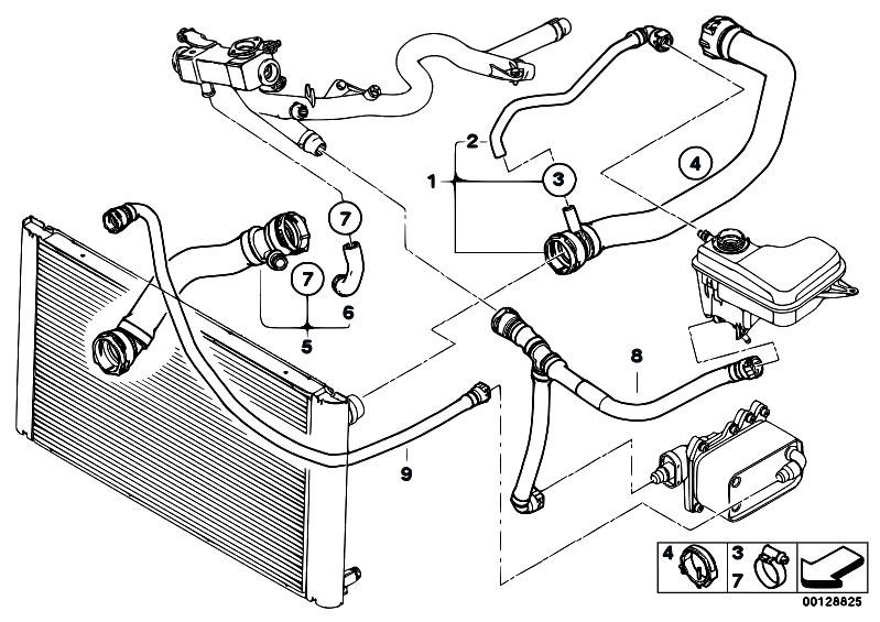 original parts for e60 535d m57n sedan / radiator/ cooling system water  hoses - estore-central com