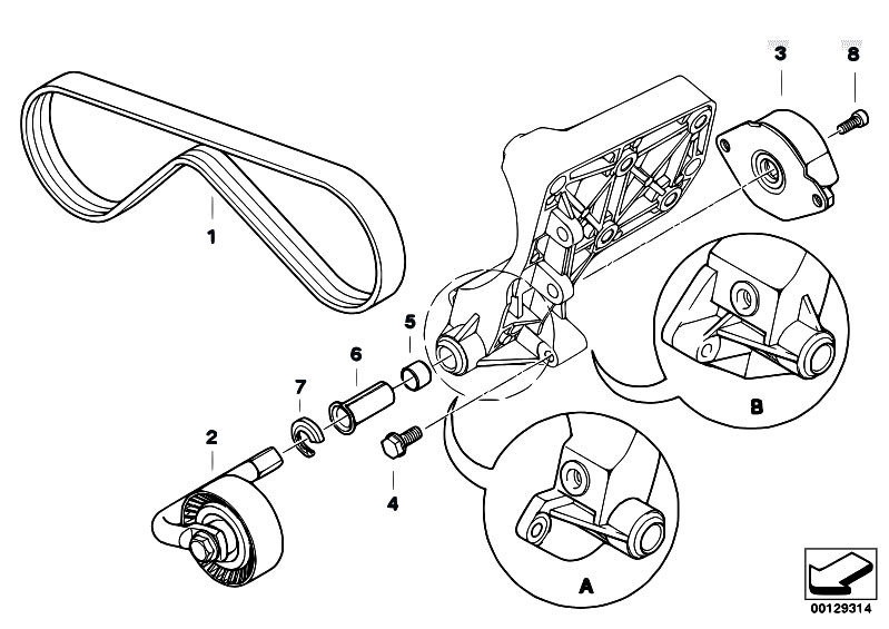 Original Parts For E53 X5 3 0d M57 Sav Engine Belt Drive Climate
