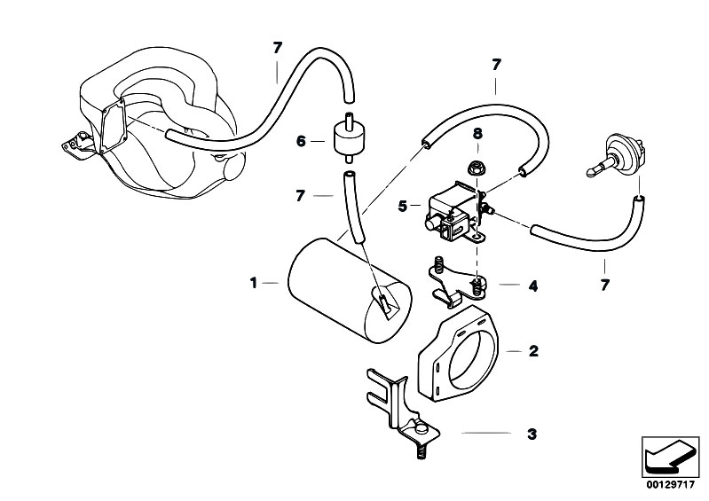 original parts for e36 318is m42 sedan    engine   vacuum