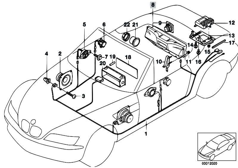 original parts for z3 z3 3 0i m54 roadster    audio