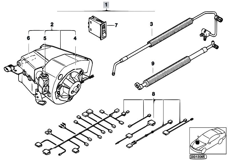 original parts for e36 325i m50 sedan    heater and air conditioning   economic air cond syst